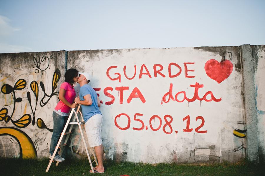 pintando o muro