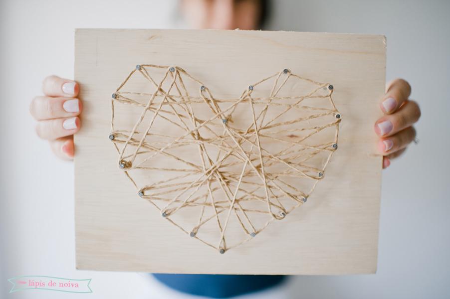 coração + prego + barbante = DIY