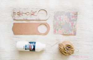 placa para porta – mimo de casamento DIY