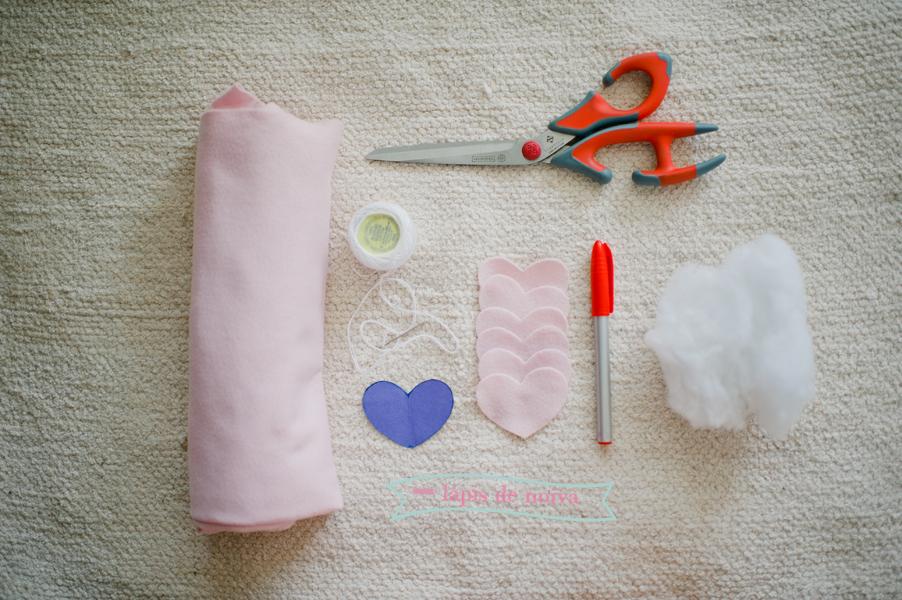 Coração de tecido – DIY