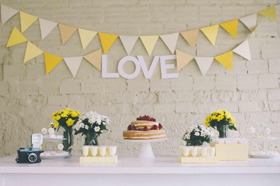 decoracao de noivado azul e amarelo simples : decoracao de noivado azul e amarelo simples:Dica de Decoração para Noivado