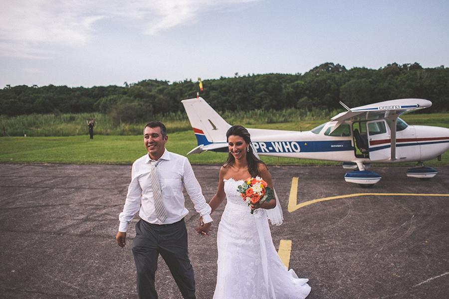 Casamento em um hangar – Camilla & Paulo