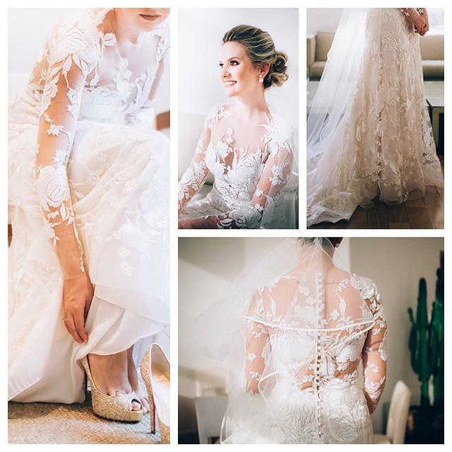 E o quanto que essa noiva estava linda e chique? Ai meu ♥️!!!! #querocasardenovo :) As fotos lindas são da @thaminne #alohafotografia e a assessoria completa do casamento por @aleloureiroassessoria, fornecedores TOP do #lapisdenoiva ♥️