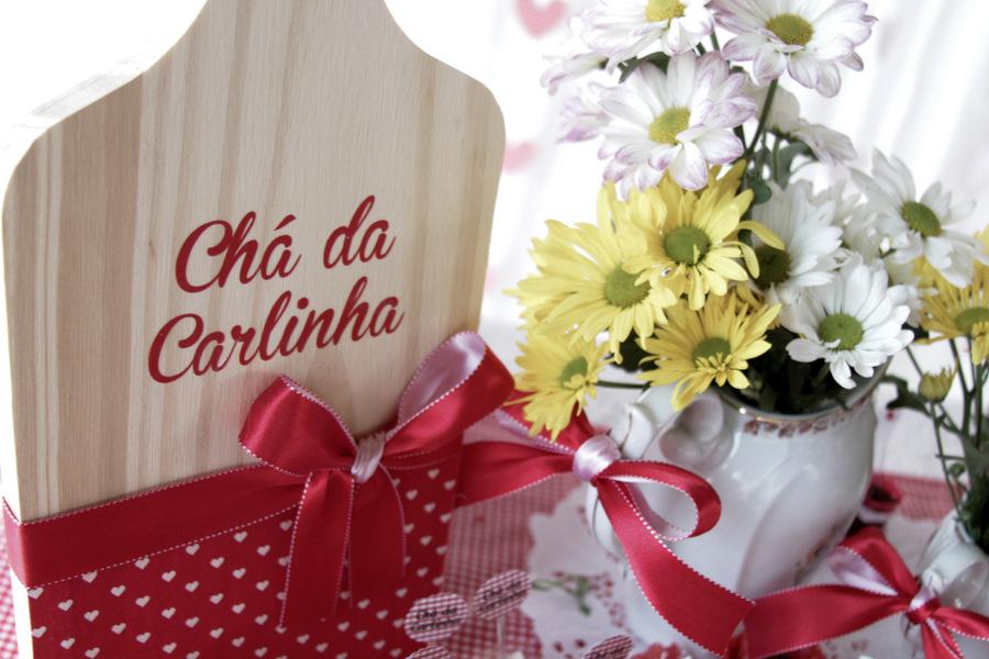 Chá de Panela Vermelho e Branco Lápis de Noiva -> Decoração De Chá De Panela Simples E Barato