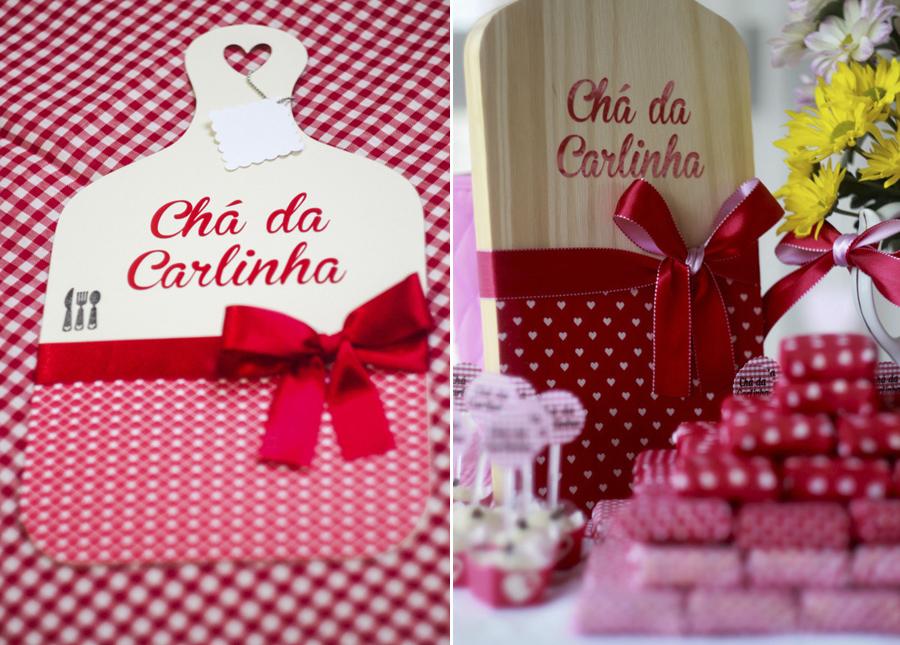 Chá de Panela Vermelho e Branco Lápis de Noiva -> Decoração De Cha De Panela Vermelho E Branco Simples