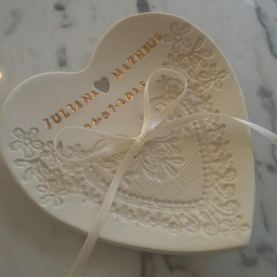 Porta-Alianças de Porcelana e Personalizado