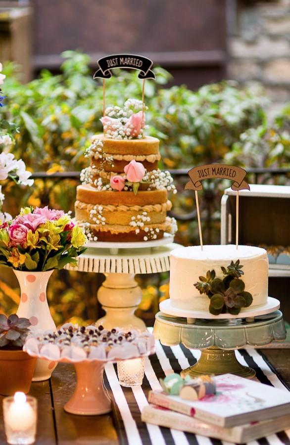 Fabiana Moura Projetos Personalizados - decoração casamento Tiella moderno toques vintages e românticos colorido com preto e branco - bolos