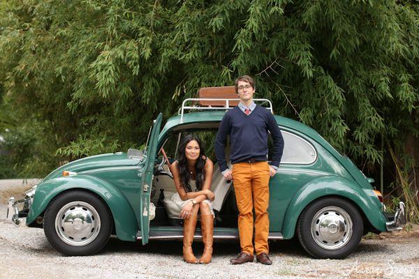 southern-wedding-vintage-car