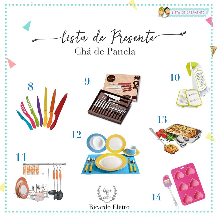 Muito Lista de Presente para Chá de Panela | Lápis de Noiva UJ02