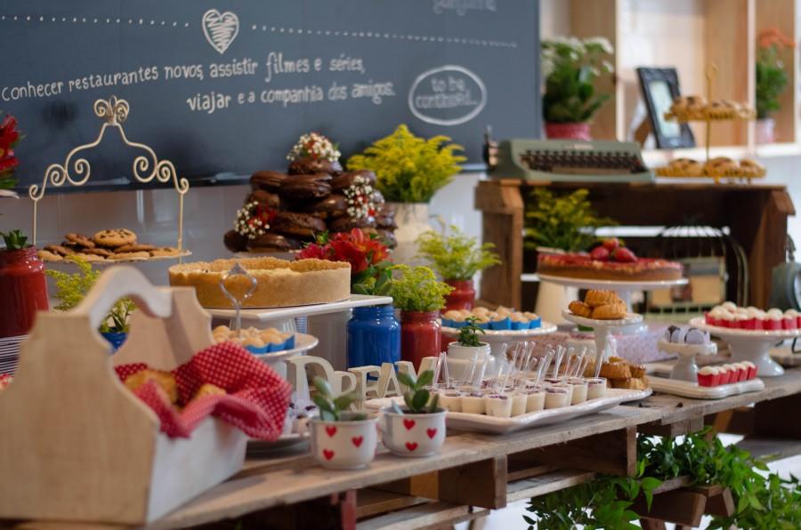 Chá Bar Moderno e Alegre – Winnie & Fabiano