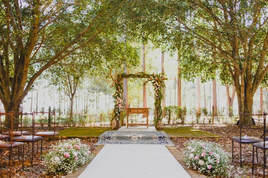 Casamento Rústico/Romântico sob as árvores – Jamille & Guilherme