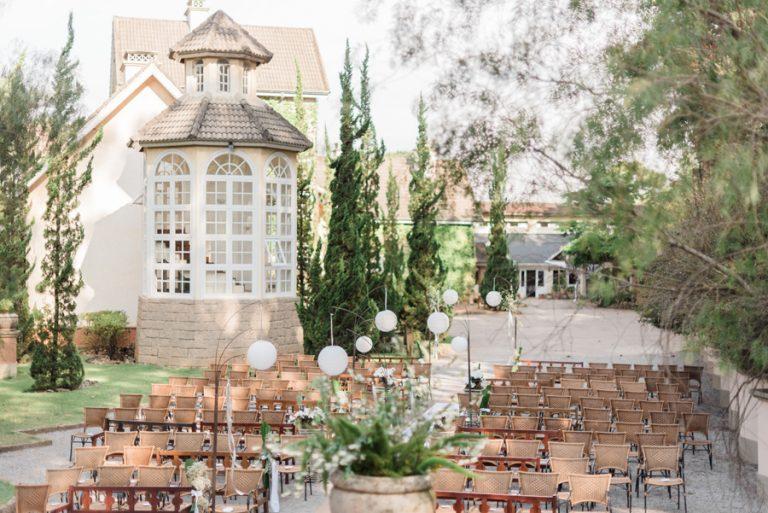 Casamento lindo com toque oriental no Hotel Fazenda Recanto da Paz