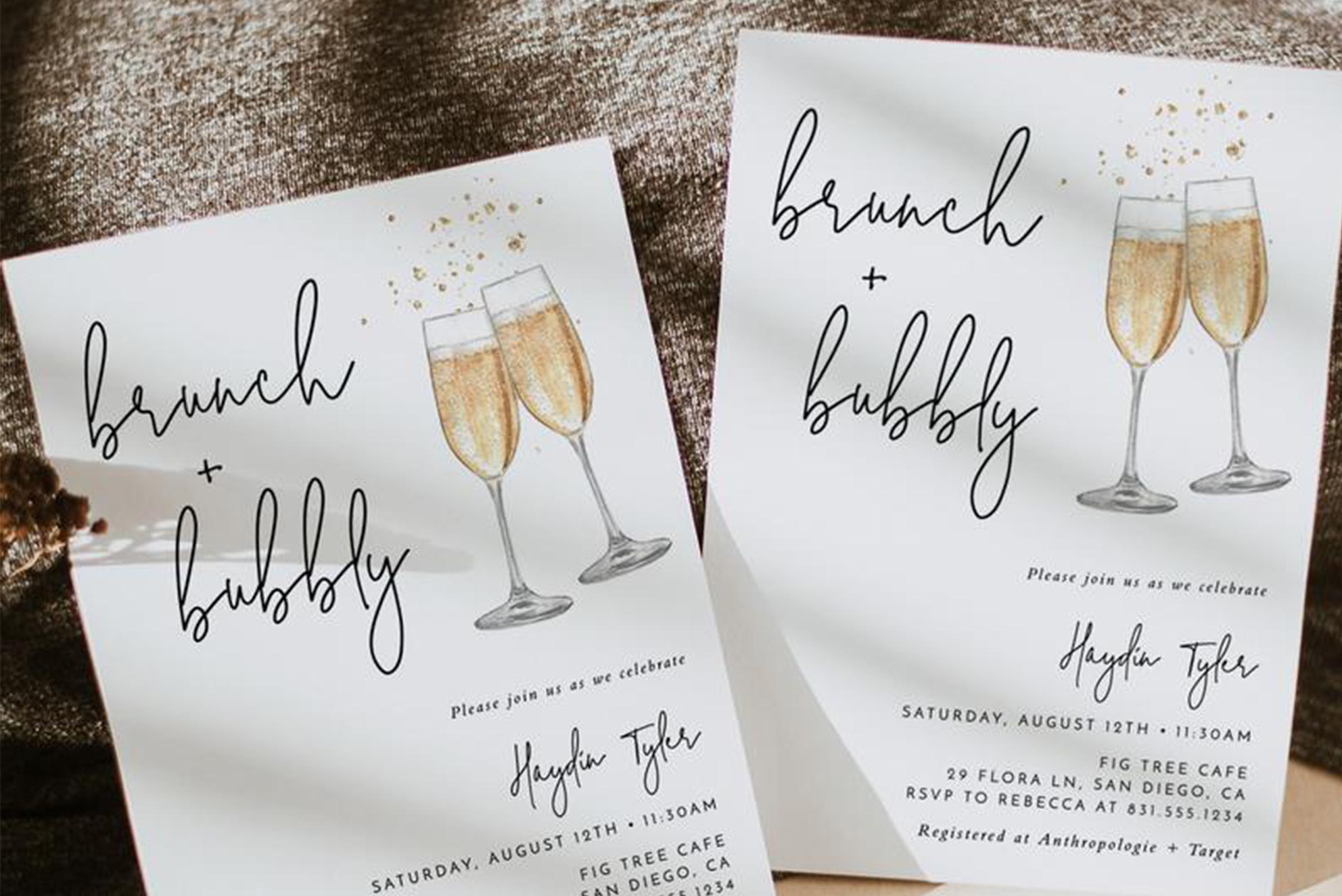 convite casamento brunch