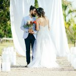 O momento só dos noivos após a cerimônia