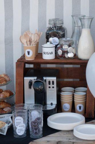 estação de café casamento com brunch