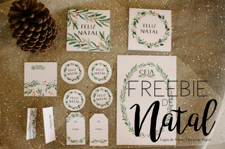 {FREEBIE} Tags + Menu + Cartão de Natal para Download