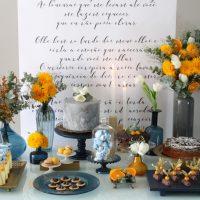Decoração de Mini-Wedding Amarelo + Azul Royal