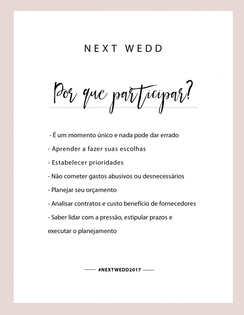 Next Wedd Faltam Poucos Dias Para O Maior Workshop De Noivas  ~ Lista Chá De Cozinha Pronta