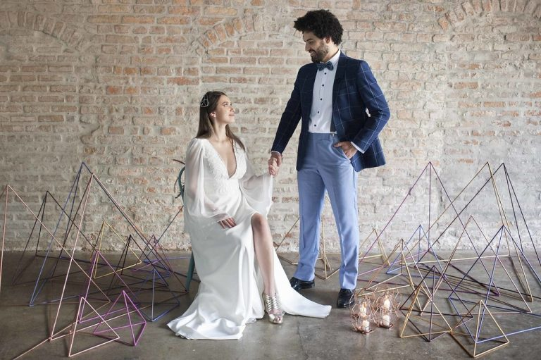 Pedido de Casamento Surpresa no Editorial Geometric Love