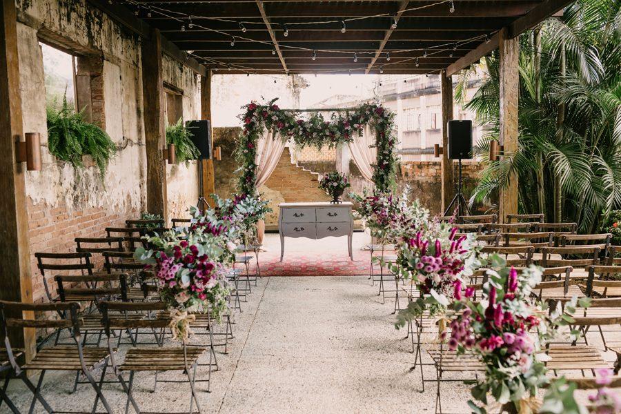 Mini Wedding Florido e Detalhista – Stephani & Guilherme