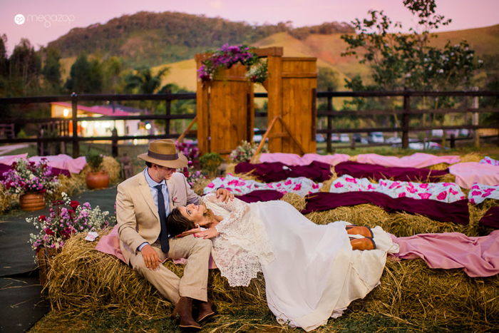 Rústico-Romântico na Fazenda – Casamento Erica & Pedro