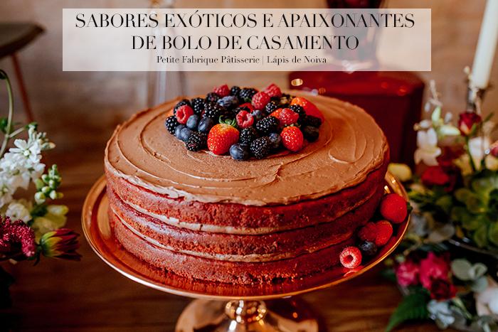 Sabores exóticos e apaixonantes de bolo de casamento