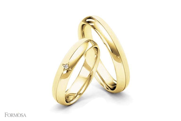 Formosa joias alianas para vida toda lpis de noiva par de alianas em ouro macio com diamante encravado em desenho de estrela altavistaventures Image collections
