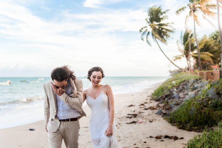 Home wedding informal na casa de praia – Nathalie & Samuel