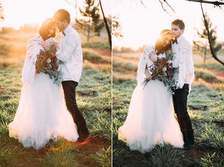 Ensaio carinhoso ao pôr do sol – Gisele & Bryan