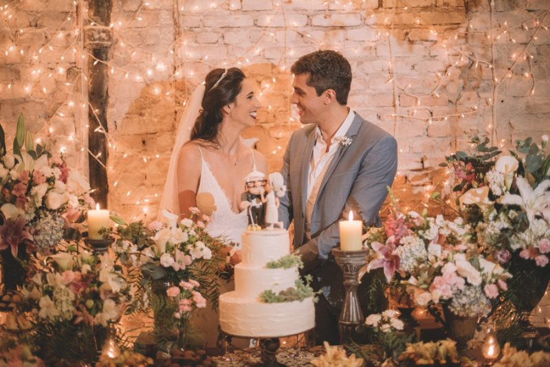 Mini Wedding com toque vintage – Renata & Vitor