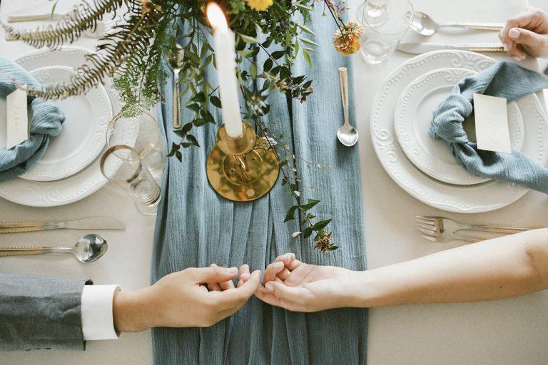 {Editorial Minimal Dusty Blue} Inspiração leve e delicada para casamentos minimalistas