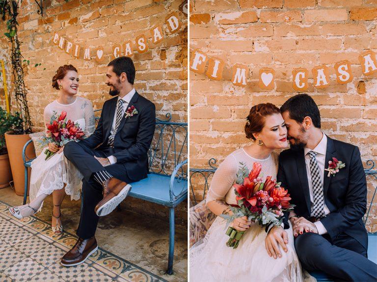 Mini-Wedding Vibrante e Cheio de Significado – Kamila & Guilherme
