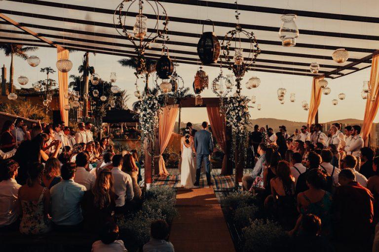 Casamento com pôr do sol dos sonhos – Fernanda & Danilo