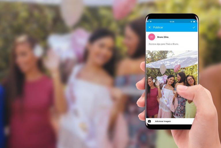 {Novidade iCasei} App permite compartilhamento de fotos de convidados no telão da festa