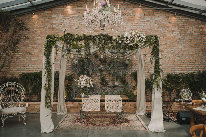 Mini Wedding rústico em tons pastel – Aline & Thiago