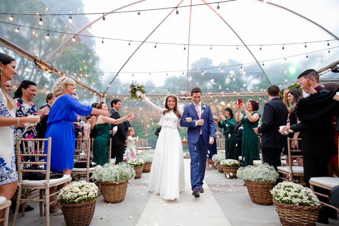 Casamento doce e acolhedor com barulhinho de chuva – Nathalia & Gustavo