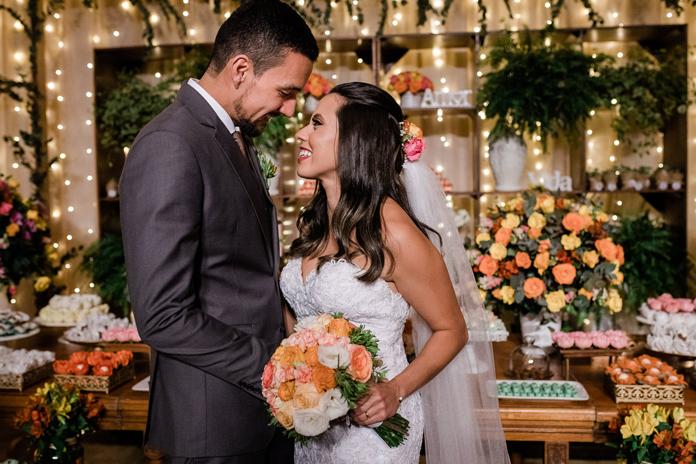Paleta coral e nude em casamento no Rio de Janeiro – Bruna & Diego