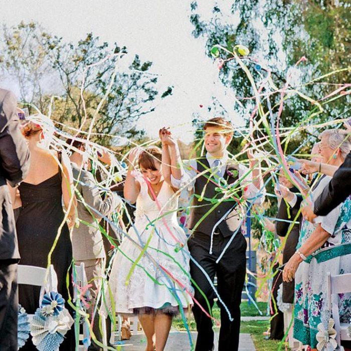 Ideias criativas para saída dos noivos