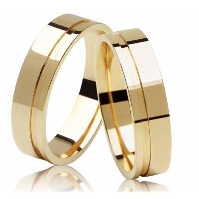 alianças-de-casamento-dourada-quadrada