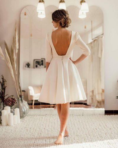 vestido-de-noiva-curto-com-manga