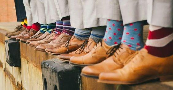 meias para padrinhos de casamento