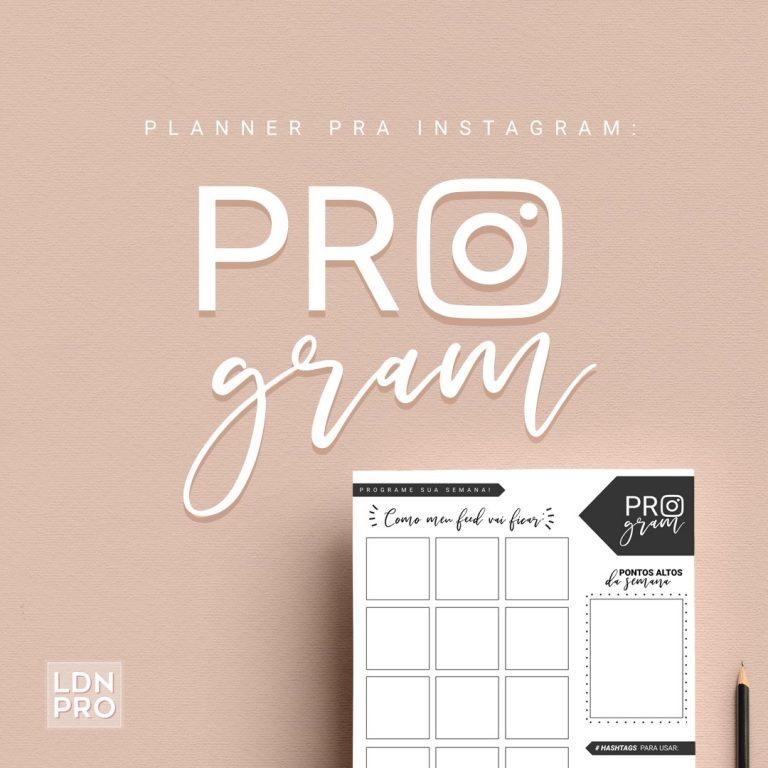planner semana de instagram