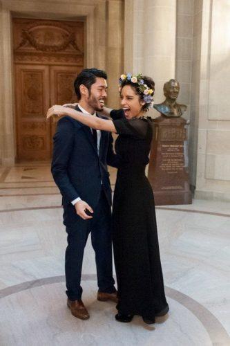 vestido-casamento-civil-preto-longo