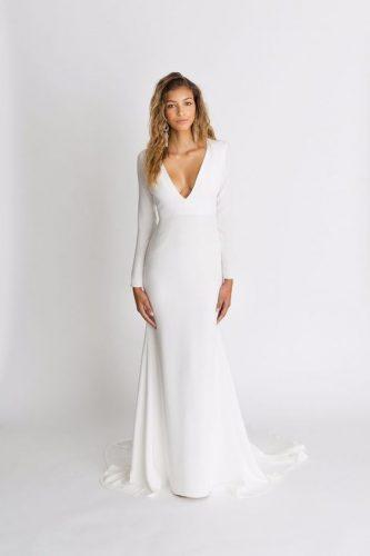 vestido-de-noiva-minimalista-com-manga-longa