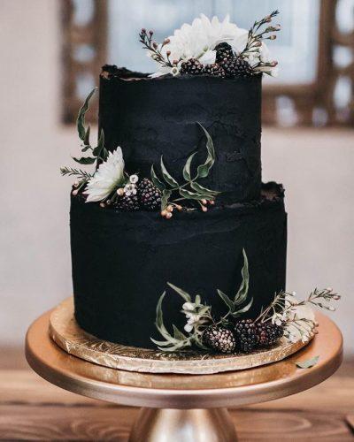 bolo-de-casamento-preto-dois-andares