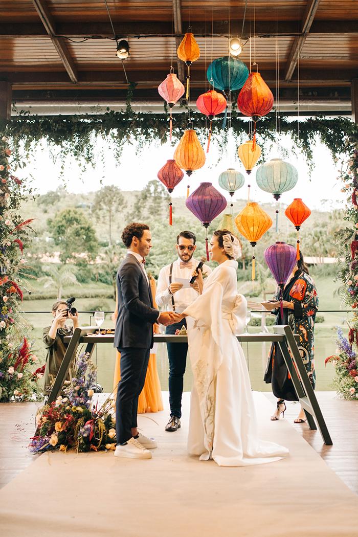 Uma homenagem às origens japonesas em destination Wedding no campo – Marina & Rafael