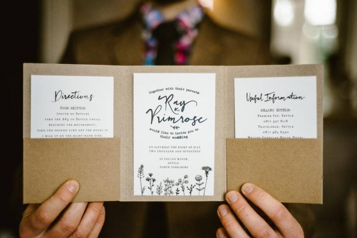 convite de casamento rústico