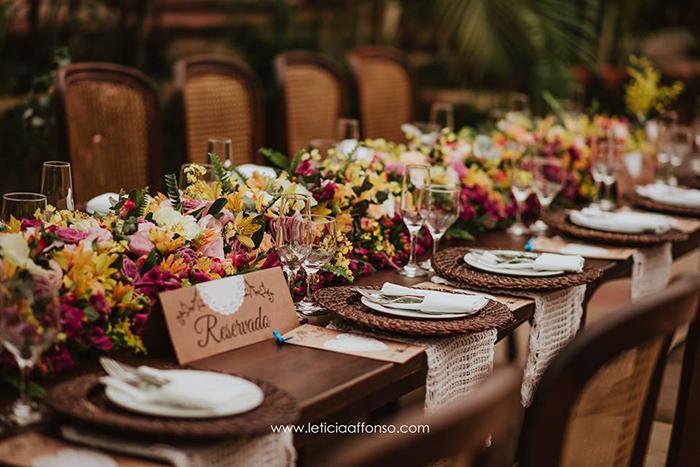 flor brasileira centro de mesa decoração