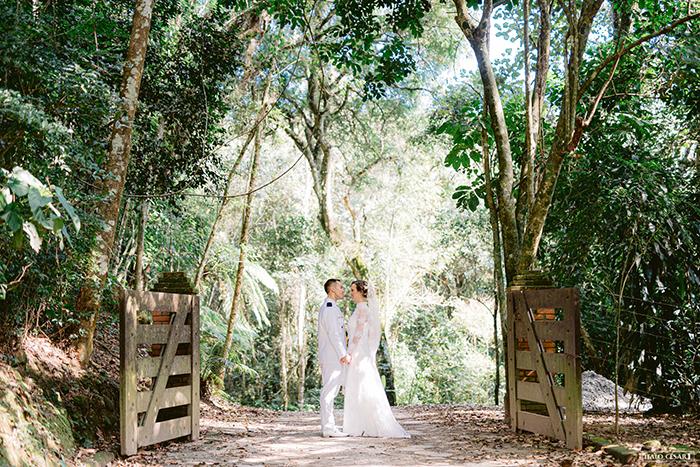 Doce casamento rústico chic ao ar livre em Mairiporã- Samantha & Rafael