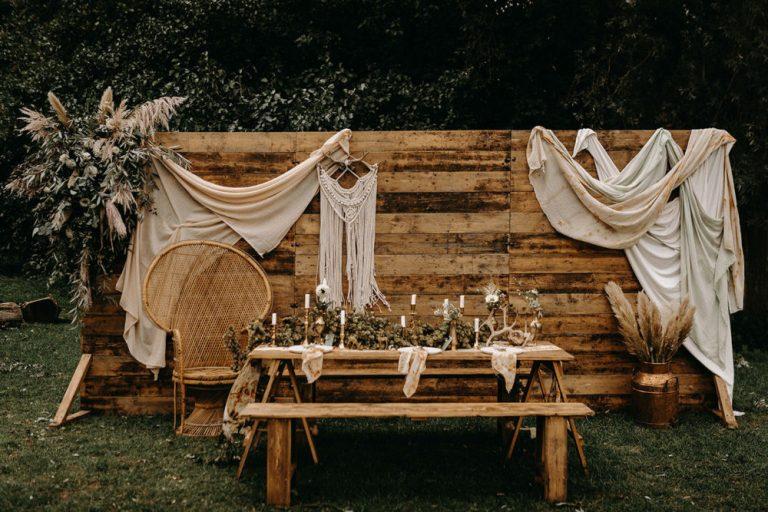decoração de casamento com flores secas